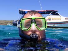 snorkeling en isla santa fe
