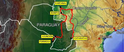 recorrido Pantanal