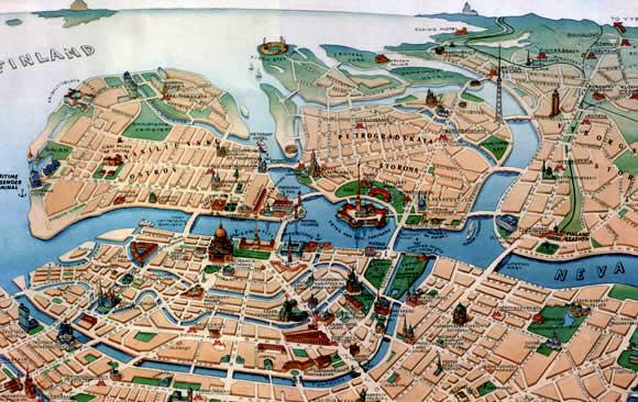 St-Petersburg-Tourist-Map